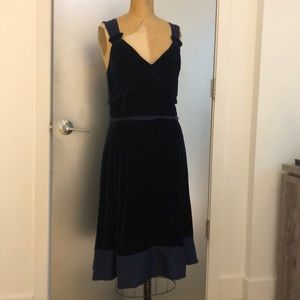 Marc by Marc Jacobs Navy Velvet Dress